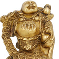 Religious gift Buddhist Art Metal Brass Laughing Smiling Buddha Statue Height 5.5 Inches Handmade