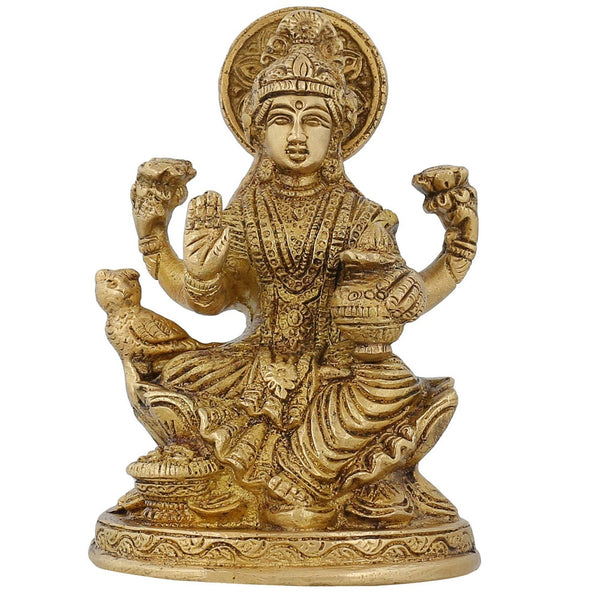 Indian Decorative Items For Home Religious Scultpure Laxmi For Puja 5 Inch,825 Grams