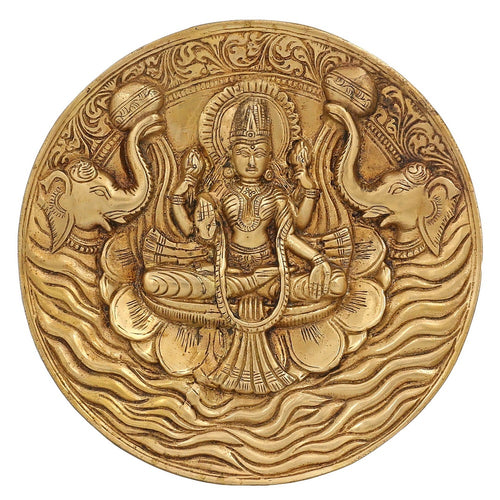 Hinduism Decor Goddess Lakshmi Brass Statue For Puja Diwali 7.5 Inch1.3 Kg