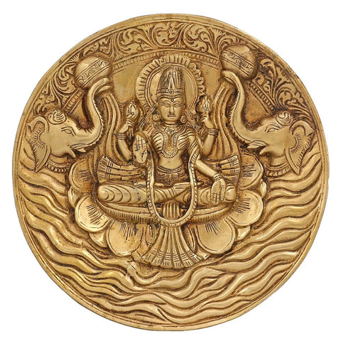 Hinduism Decor Goddess Lakshmi Brass Statue For Puja Diwali 7.5 Inch,1.3 Kg