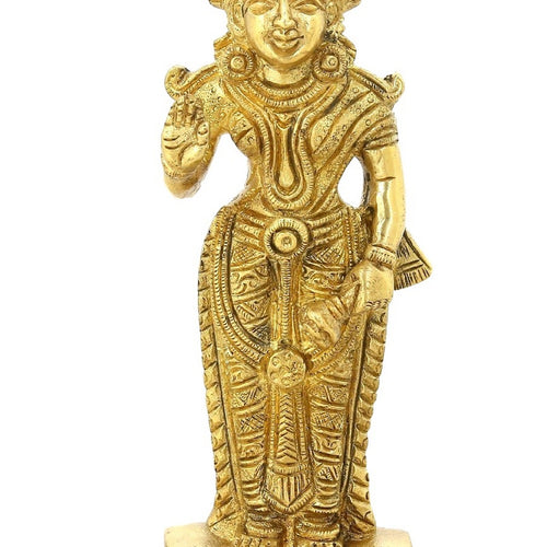 ShalinIndia Hinduism Symbol Goddess Of Wealth Laxmi Standing For Puja Temple6.5 Inch827 Grams