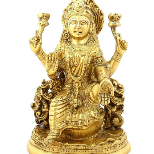 Shalinindia Religious Gifts Goddess Of Wealth Laxmi Sitting Hinduism Décor8 Inch3 Kg