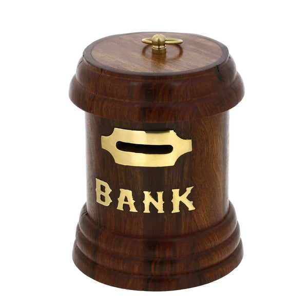 Postal Box Shaped Money Bank Wooden Handmade Gifts from India