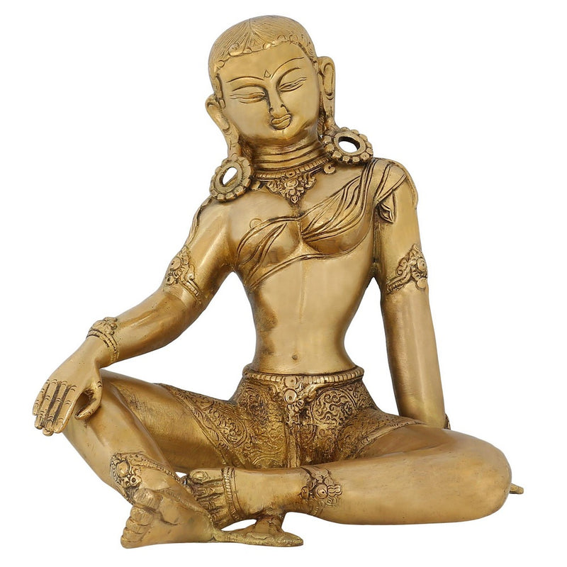 Indian Décor Hindu Sculpture Goddess Parvati Consort Of Lord Shiva 8 Inch3.7 Kg