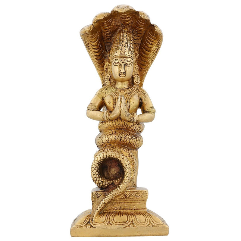 Religious Gifts Patanjali Statue Brass Hindusim Indian Art Home Decoration 7.5 Inch1.5 Kg