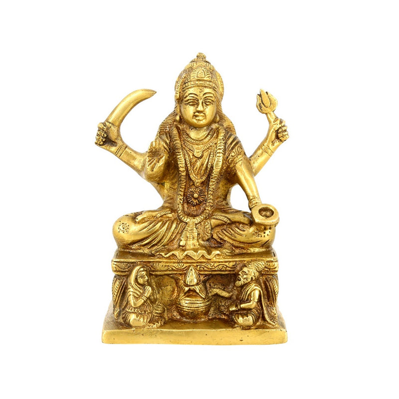 Hindu Goddess Statue Maa Santoshi Religious Gift For Puja Mandir 6.75 Inch 1.4 Kg
