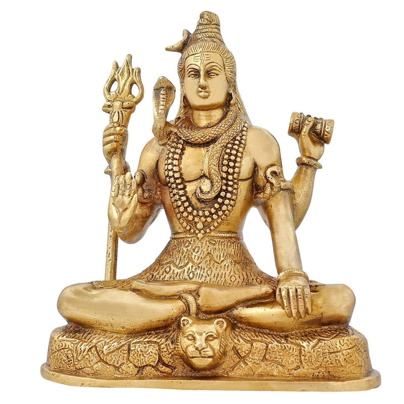 Indian Art Hinduism Decor Shiva Statue Religious Figurines Sculpture 7.5 inch 2.5 Kg