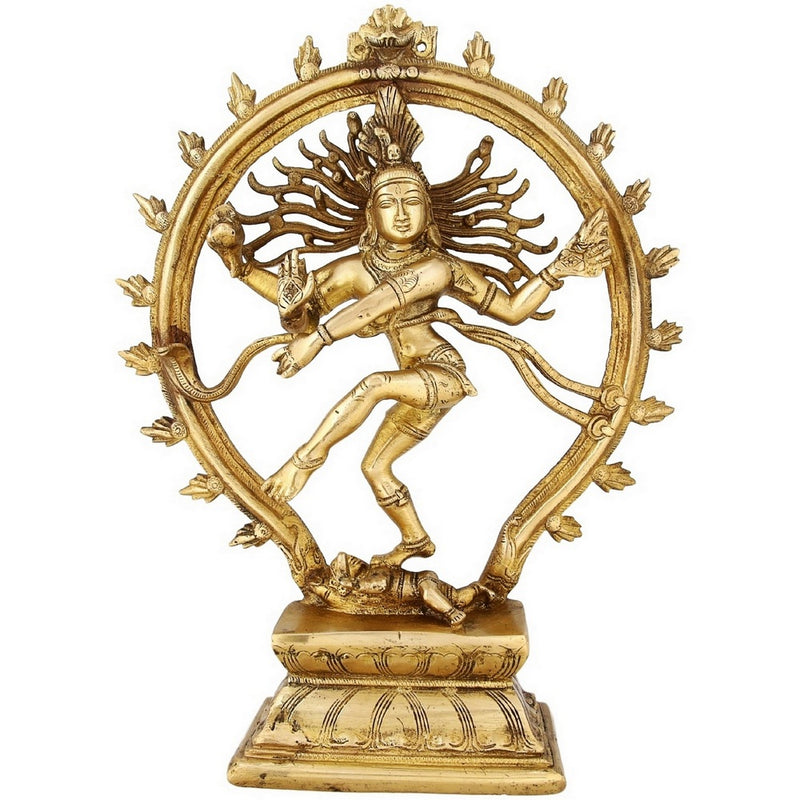 Indian Art Hinduism Decor Dancing Lord Shiva Nataraja Statue Religious Gift 13 inch 3.38 Kg Large