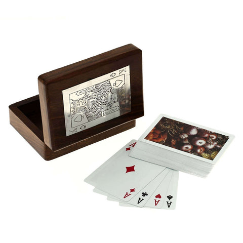 Wooden Boxes for Storage Playing Card  Holder Artisan Crafted