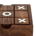 ShalinIndia Solitaire and Tic Tac Toe 2-in-1 Wooden Game Set - 4.5 inches by 4.5 inches - Great Gift for Kids