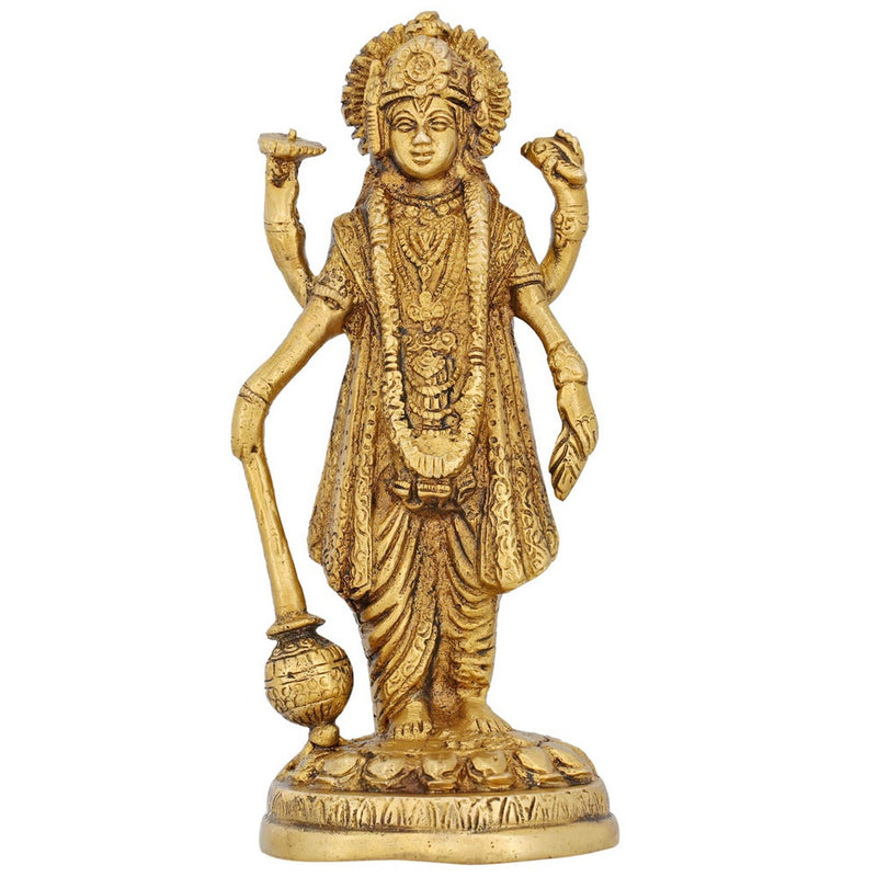 Idol Hindu Statue God Vishnu Standing Puja Accessories for Mandir 7 Inch Contemporary Art Weight-1.2 kg