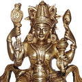 Lord Vishnu Hindu Sculpture Made in Brass