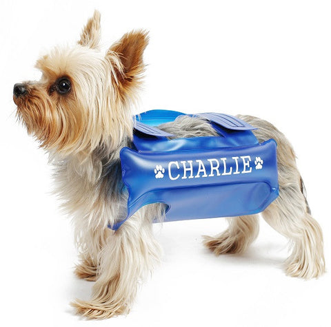 FLOATING WATERPROOF DOG LIFE JACKET