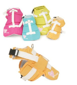 WATERPROOF DOG LIFE JACKET ORANGE