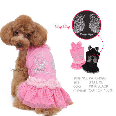 summer angel pink dog dress pa-dr095