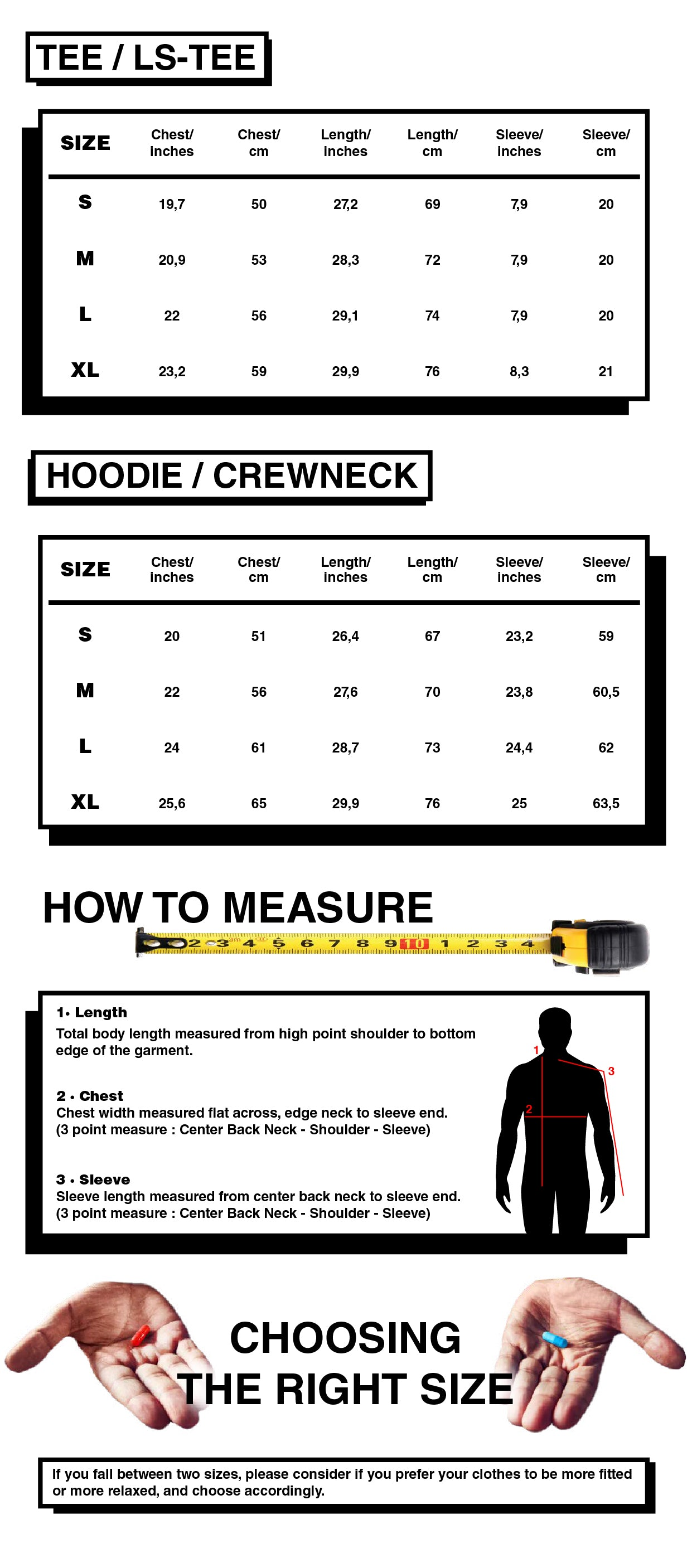 Rave skateboards size chart