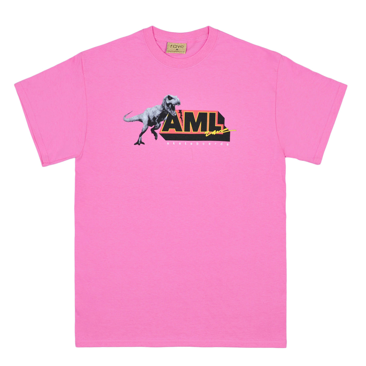 AML pink tee - RAVE skateboards