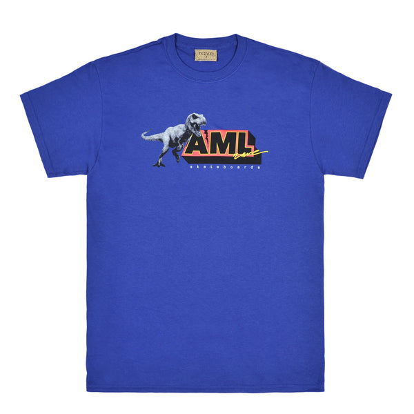 AML metro blue tee - rave skateboards