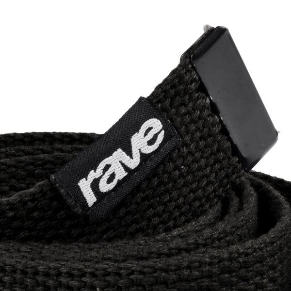 BELT rave black - rave skateboards