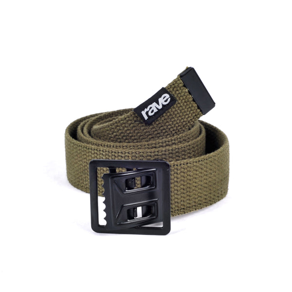 BELT rave olive - rave skateboards