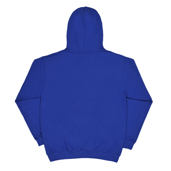 BLURRY royal blue hoodie - rave skateboards