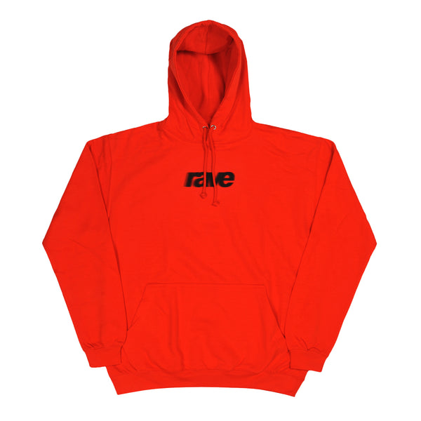 BLURRY sunset orange hoodie - rave skateboards