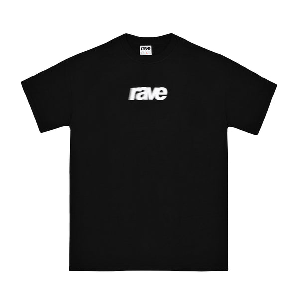 BLURRY black tee - rave skateboards