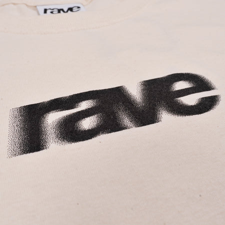 BLURRY off white tee - rave skateboards