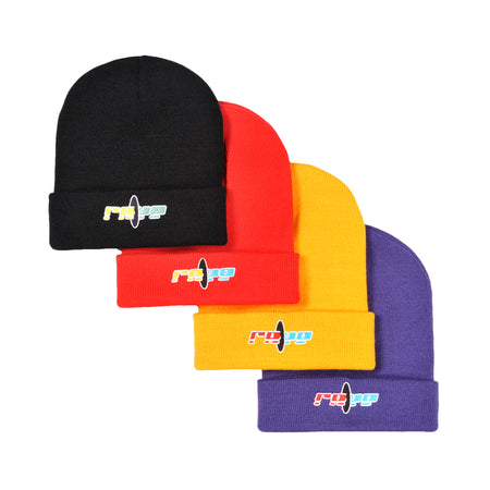 BLACK HOLE black beanie - RAVE skateboards