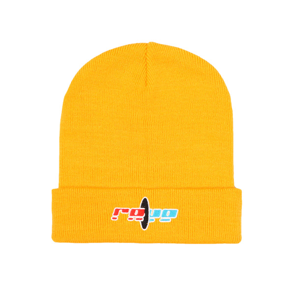BLACK HOLE yellow beanie - RAVE skateboards