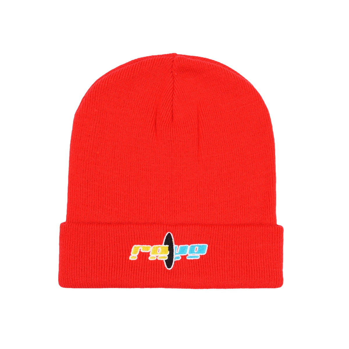 BLACK HOLE red beanie - RAVE skateboards
