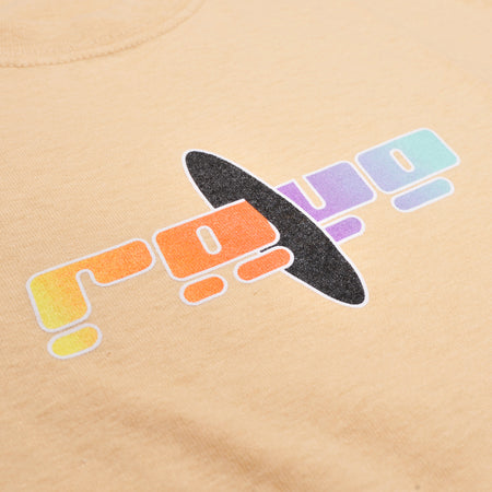 BLACK HOLE cream tee - RAVE skateboards