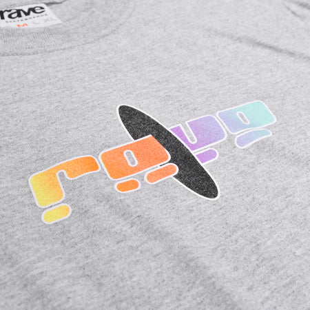BLACK HOLE grey tee - RAVE skateboards