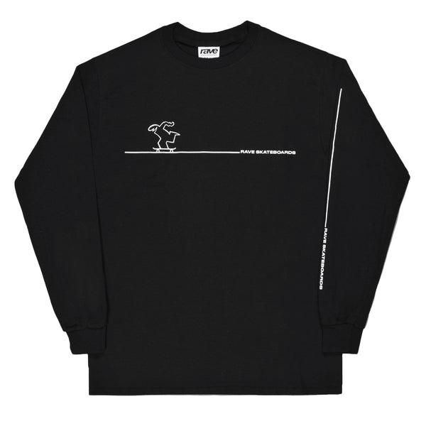 CAVENDOLI black LS tee - RAVE skateboards
