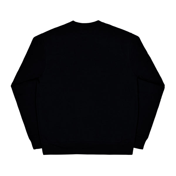 CORE LOGO black crewneck - rave skateboards