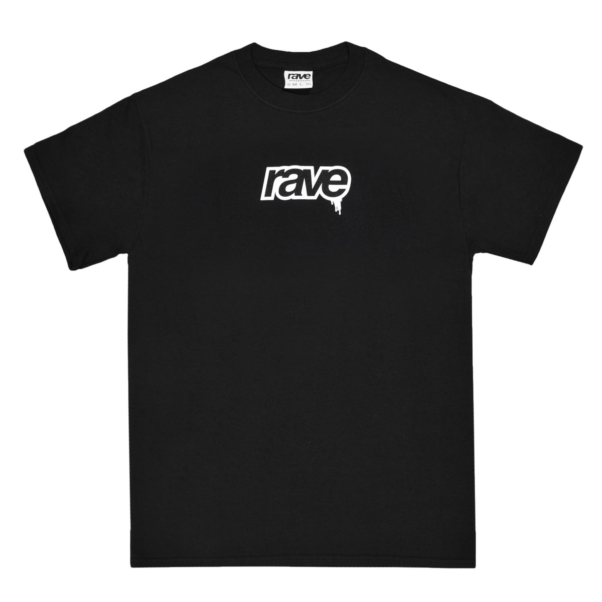 DROPS black tee - RAVE skateboards