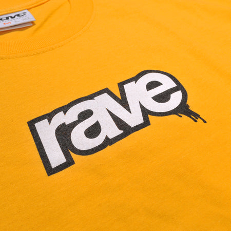 DROPS gold tee - RAVE skateboards