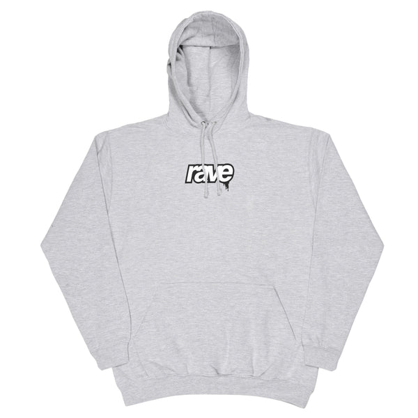 DROPS grey hoodie - RAVE skateboards