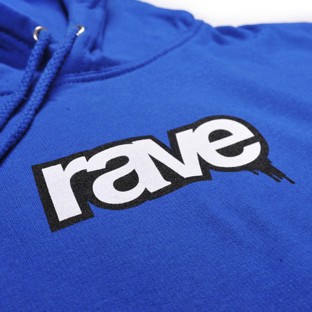 DROPS royal blue hoodie - RAVE skateboards