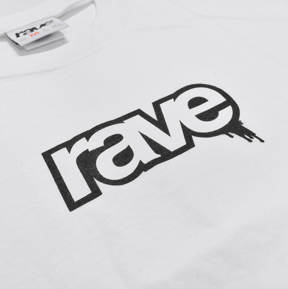 DROPS white tee - RAVE skateboards