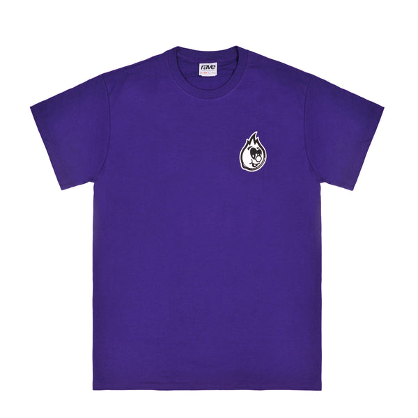 EGGBOY purple tee - rave skateboards