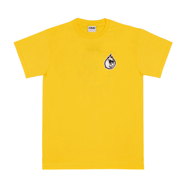 EGGBOY yellow tee - rave skateboards