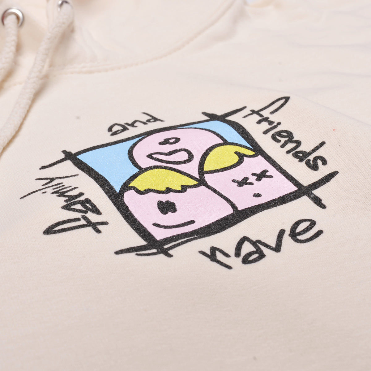 FAMILY & FRIENDS cream hoodie - RAVE skateboards