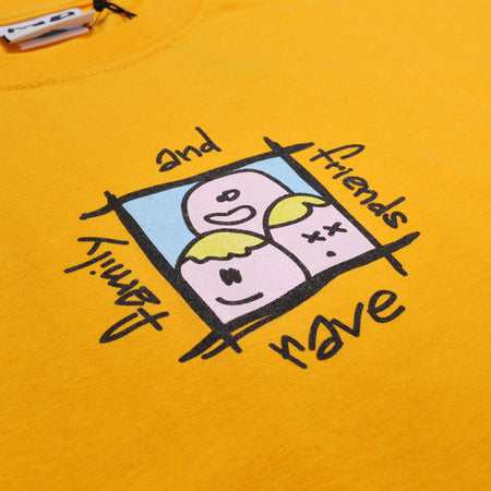 FAMILY & FRIENDS gold tee - RAVE skateboards