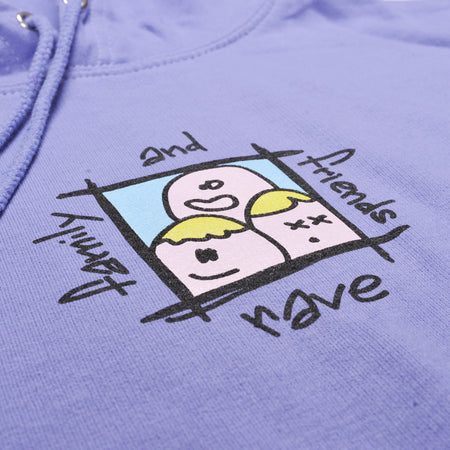 FAMILY & FRIENDS light violet hoodie - RAVE skateboards