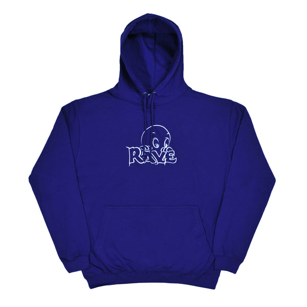 FRIENDLY GHOST navy hoodie - rave skateboards