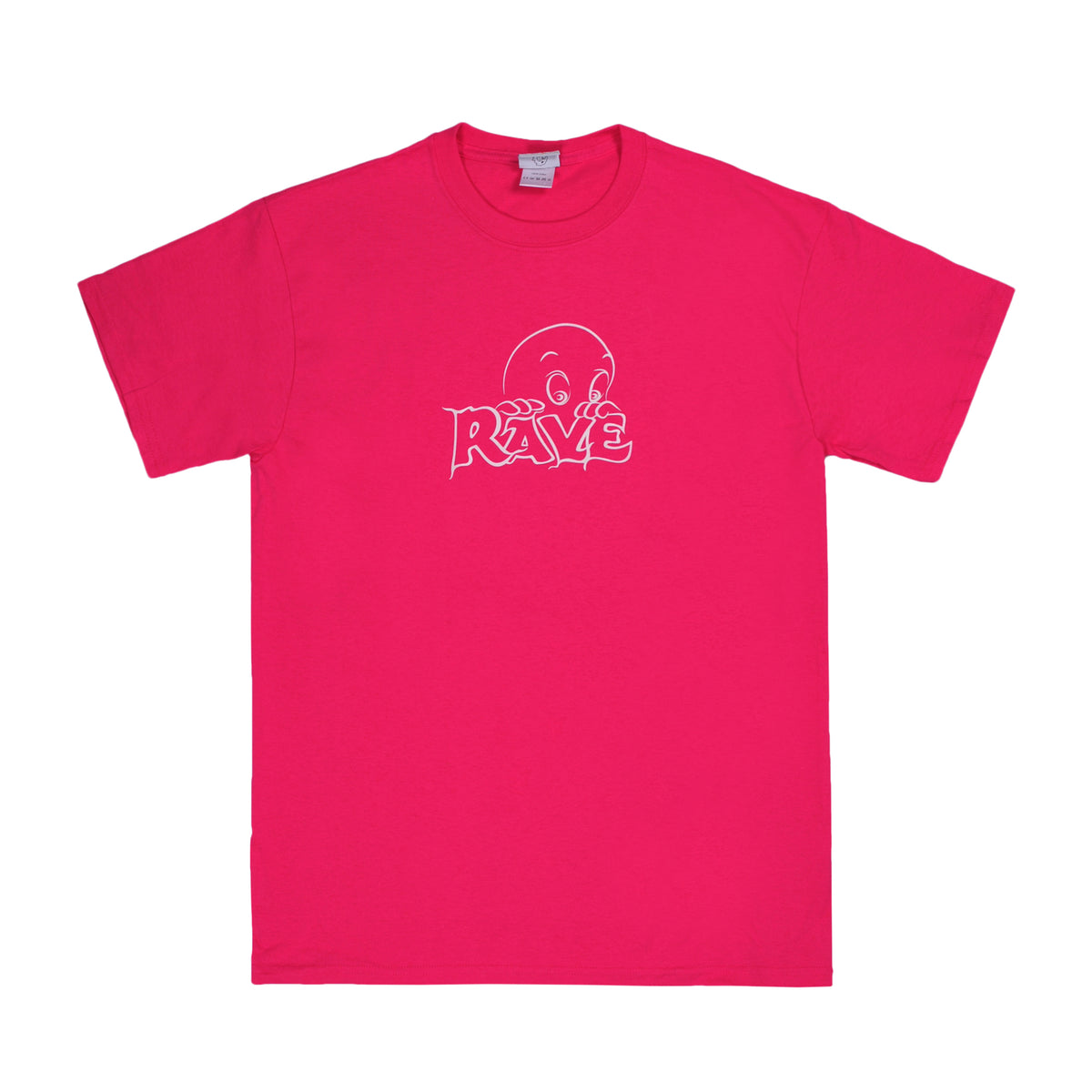 FRIENDLY GHOST pink tee - RAVE skateboards