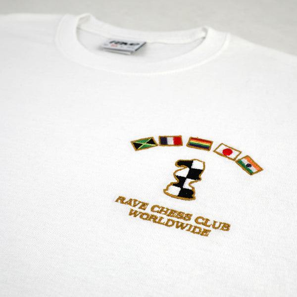 KASPAROV white tee - rave skateboards