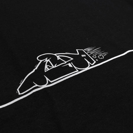 RAVE x ANYWAYS black tee - RAVE skateboards