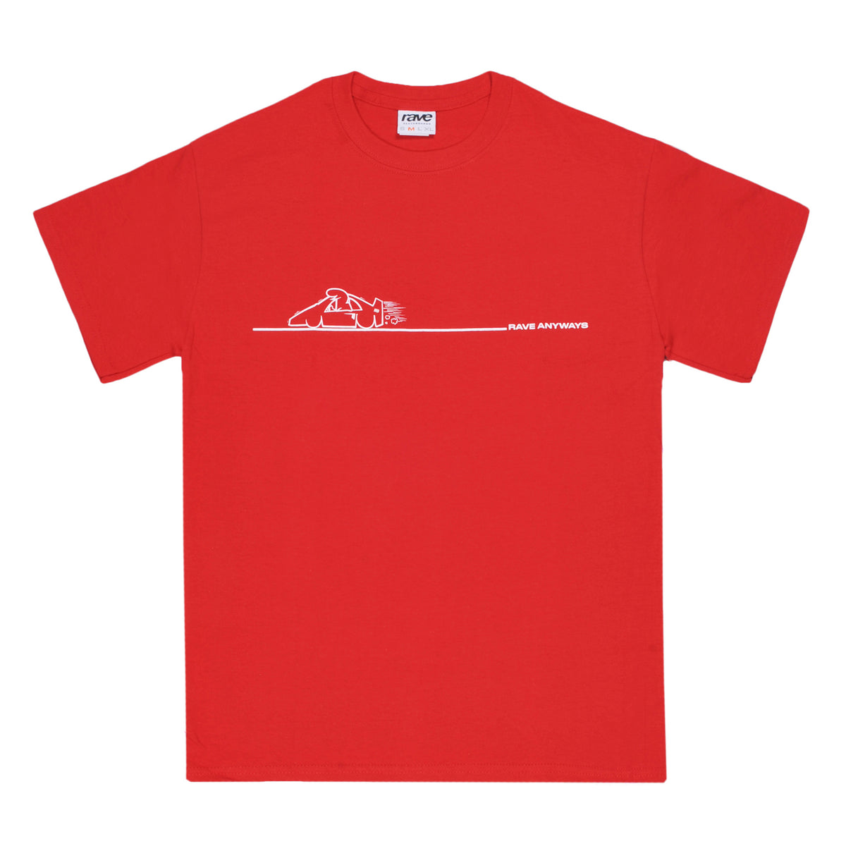 RAVE x ANYWAYS red tee - RAVE skateboards